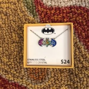 Batman Women's Necklace Stainless Steel Crystals